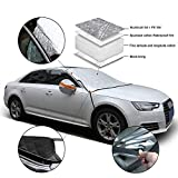 Automecar Car Windshield Snow Cover 4-Layer Thicken Windscreen Frost Protector Ice Shield Winter Guard, Extra Large Size for Most Car, SUV & Truck