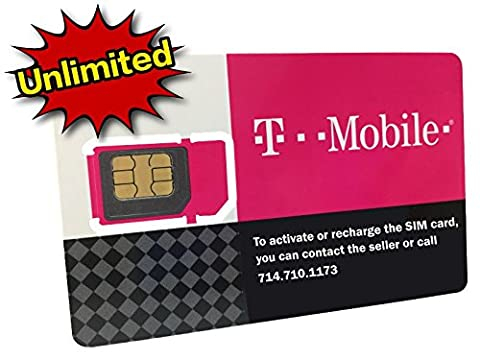 T-Mobile Prepaid SIM Card Unlimited Talk, Text, and Data (USA, Canada and Mexico) for 10 days (Tmobile Go Cell Phones)