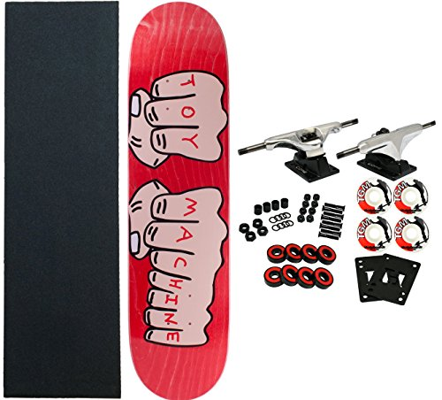 Toy Machine Complete Pro Skateboard Fists (Assorted Colors) 7.75