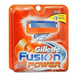 Gillette Fusion Power Cartridges 4 EA - Buy Packs and SAVE (Pack of 5)