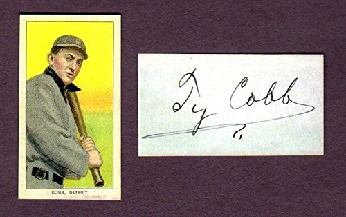 Ty Cobb 1909 T206 Tobacco Reprint Card (w/Facsimile for sale  Delivered anywhere in USA