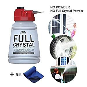 (Crystal powder not include) Full Crystal Window and All Purpose Outdoor Glass Cleaner Sparkle Multi-purpose Cleaning System for Windows and Cars