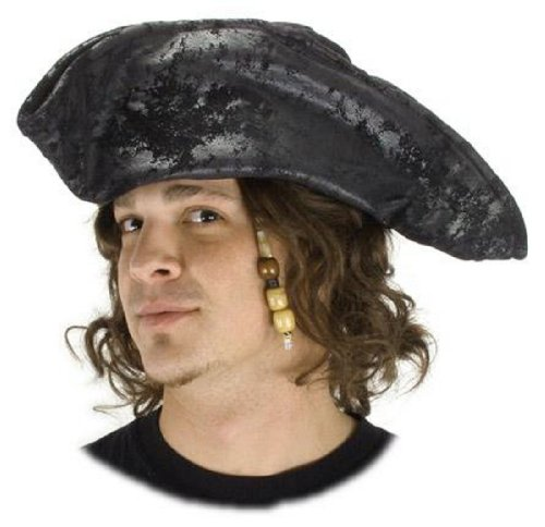 Hat Scallywag (Scallywag Black Pirate Hat Costume Accessory)
