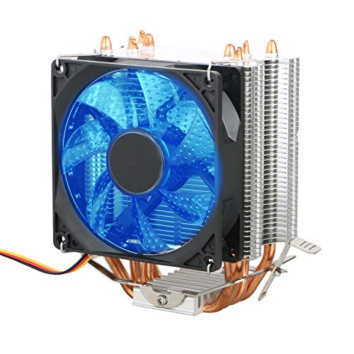 EEEKit CPU Cooler, Professional Cooler Master CPU Heatsink with Superb Cooling Performance, 90mm Fan, Blue LED, 3 Pin Fan Connector, for Intel Sockets