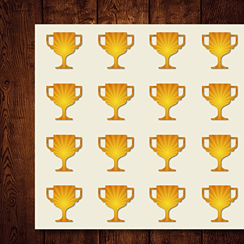 Trophy Award Goblet Cup Champion Craft Stickers, 44 Stickers at 1.5 Inches, Great Shapes for Scrapbook, Party, Seals, DIY Projects, Item 213153