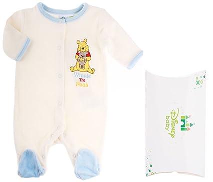 Pijama con Caja Regalo bebé niño Winnie the Pooh Crudo/Azul 3 Meses