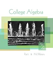 College Algebra (2nd Edition) (Hardcover)