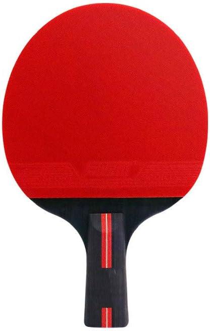 liutao Individual y Doble Tiro Adultos niños Raqueta de Tenis de Mesa Estudiante Pegamento Reverso