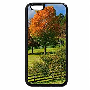iPhone 6S Case, iPhone 6 Case (Black & White) - Autumn Pastures