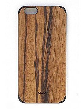 MAM Originals · Plain Zebrano | Carcasa de iPhone 6 Plus | Carcasa de Madera de