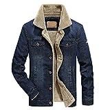 Clearance Sale! Caopixx Jackets for Men's Classic Western Style Lined Denim Jacket Trucker Coat Outwear