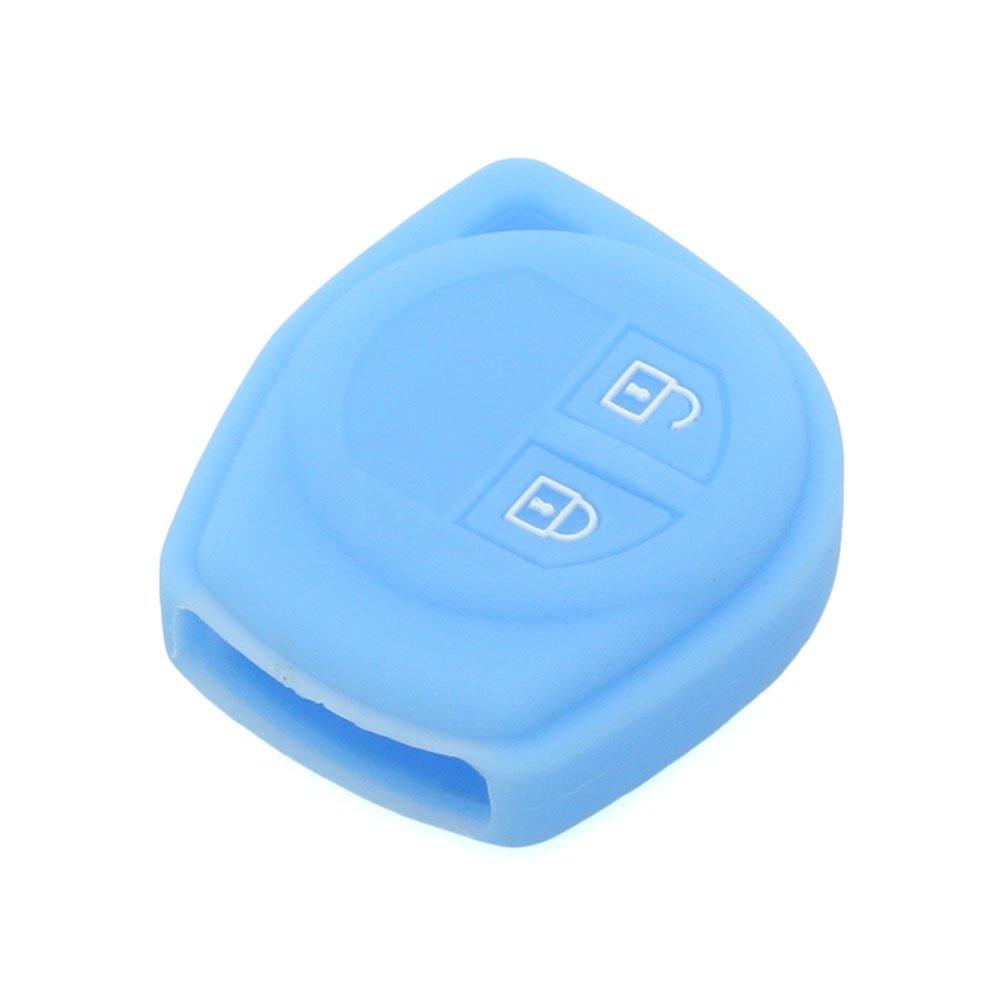 Fassport Silicone Cover Skin Jacket fit for SUZUKI 2 Button Remote Key CV4541 Deep Blue