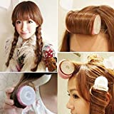 Lovef Women Bangs Hair Styling Tools Salon Curlers Hot Cling Rollers Curlers Hair Rollers Double 2Pcs