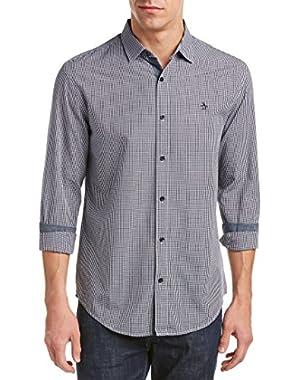 Men's Gingham Long Sleeve Shirt