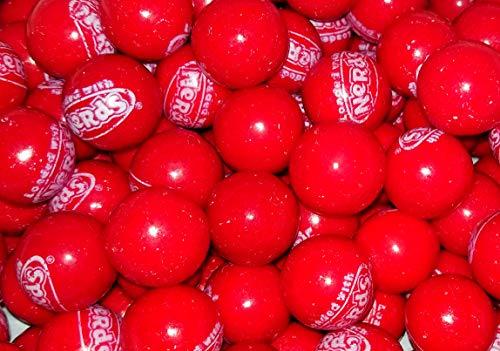 Red Wonka Nerds Filled Gumballs - 1 Pound Bulk -