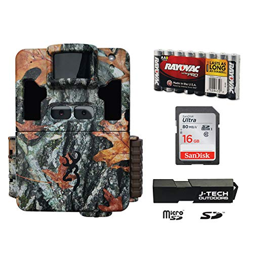 Browning Dark OPS PRO XD Dual Lens Trail Game Camera Complete Plus Package Includes 16GB Card and J-TECH Card Reader (24MP) | BTC6PXD