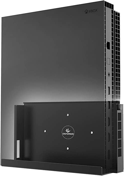 Monzlteck WX-X Wall Mount for Xbox ONE X, Near or Behind TV, Minimal Design,Easy to Install