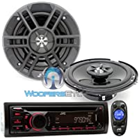 Brand New JVC Package Car Stereo Receiver MP3 WMA CD Player (KD-R440) + 6.5 2-way Car Speakers (CS-XM621)