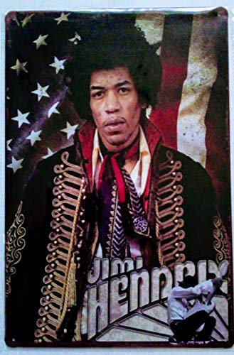 (Pish Posh Llc Vintage Tin Sign Decor, Jimi Hendrix)