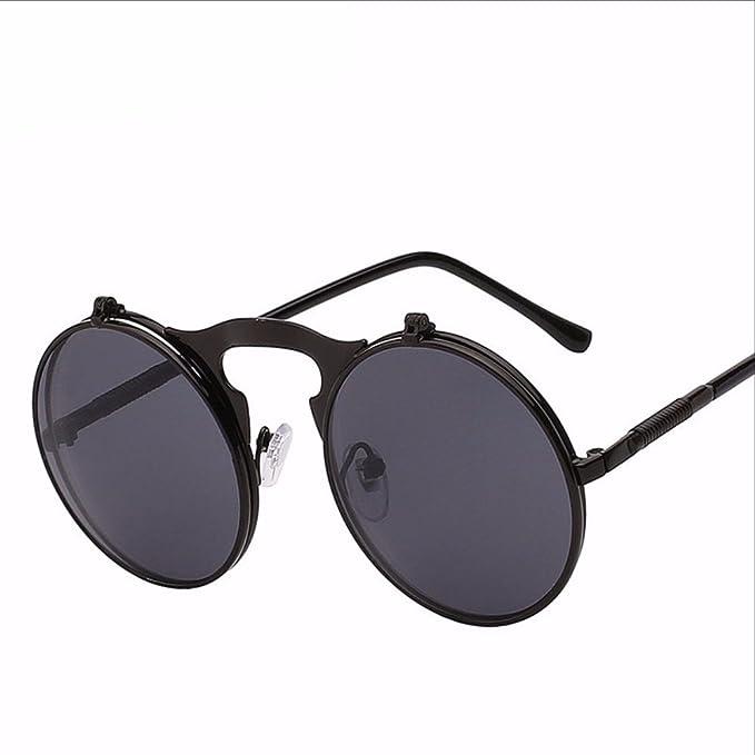 Amazon.com: Flip Up Steampunk anteojos de sol Hombre Vintage ...