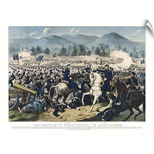 CANVAS ON DEMAND The Battle of Gettysburg, Pa. Wall Peel Art Print, 36