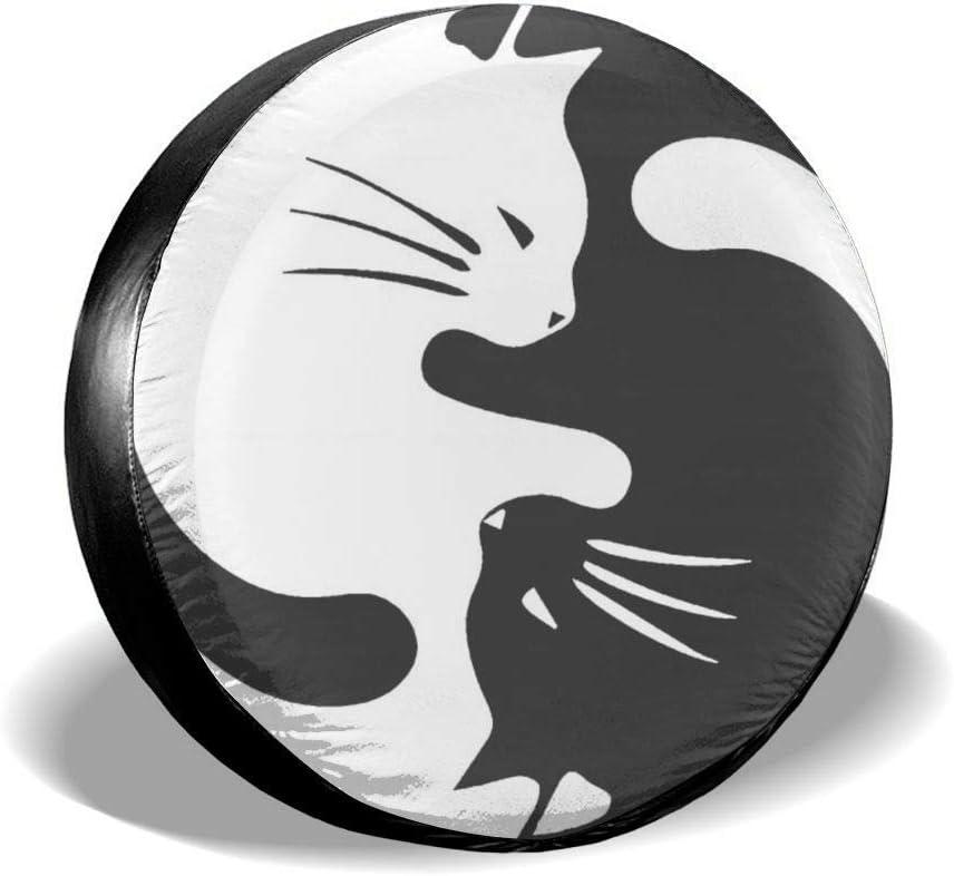 WCHAO Autoreifenabdeckung Sonnenschutz Schutzh/ülle Yin Yang Cat Wasserdicht Universal Reserverad Reifenabdeckung 16 Zoll