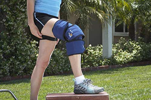 A to P Total Ice Full Knee Wrap Reusable Ice Packs Adjustable Compression Support for Injuries Arthritis Pain Tendonitis ACL Athletic Injury Osteoarthritis Meniscus Patella Surgery