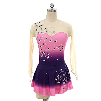 Amazon.com : DILIKEXUE Figure Skating Dress for Girls Women ...