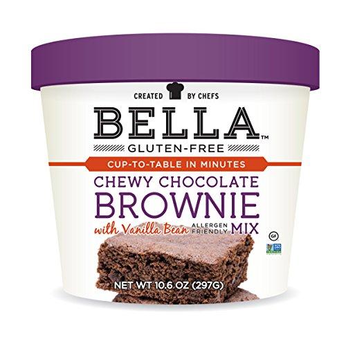 Bella Gluten-Free Chocolate Brownie Mix Premium Casein Free Healthy Flour, 10.5 oz (1 Pack) (Brownie Free Gluten)