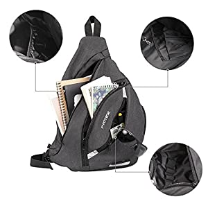 Sling Bag, PRITEK Crossbody Bag Waterproof Ultralight Versatile Chest Daypack,Anti-Theft Over Shoulder Travel Rucksack Pack Backpack for School Hiking Camping Cycling Boys Men and Women