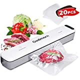 Vacuum Sealer Machine, Godmorn Automatic Food Sealer for Food Savers w/Starter Kit | One Touch Operation | Led Indicator Lights | Dry & Moist Food Modes | Compact Design (White)