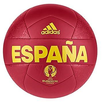 adidas Euro16 OLP Esp - Balón, color rojo / amarillo, talla 1 ...