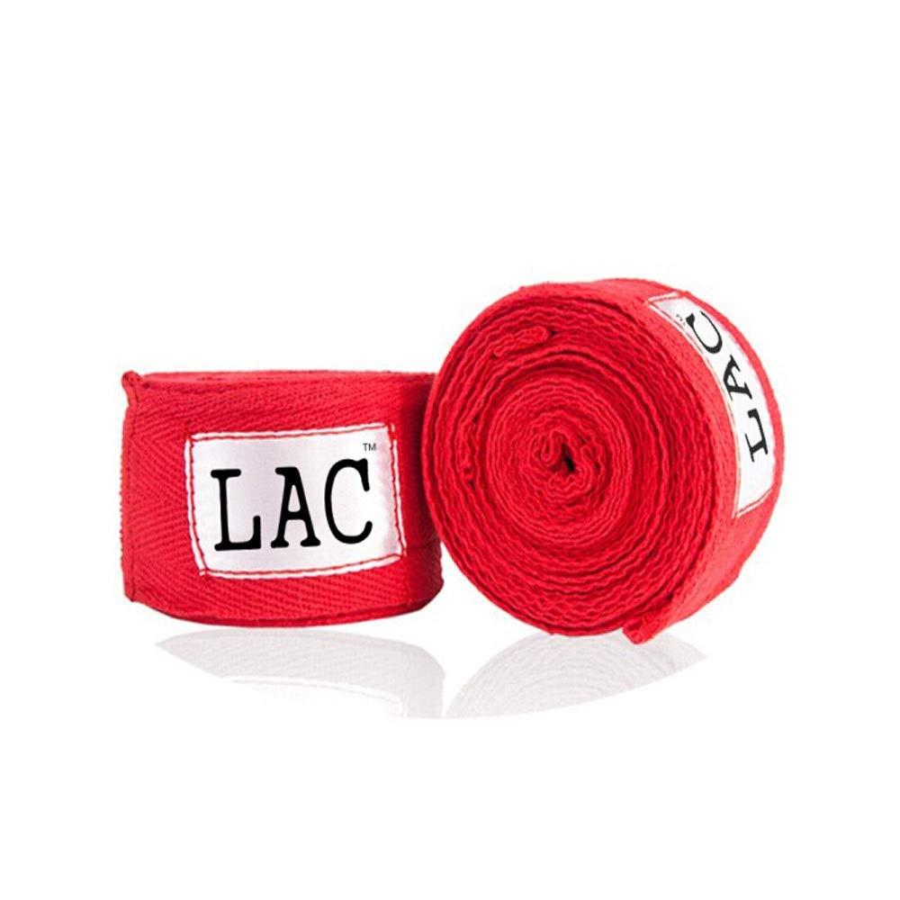 XIAONINGMENG Boxing Bandages, Sanda Bandages, Cotton Muay Thai Bandages, Wraps Hand Straps, Sweat Bandages, White/Red/Blue/Black 3 M 2 Pack The Best Choice for Boxing Enthusiasts (Color : Red) by XIAONINGMENG