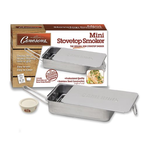 Stovetop Smoker - The Original Camerons Gourmet Mini Stainless Steel Smoker with Wood Chips