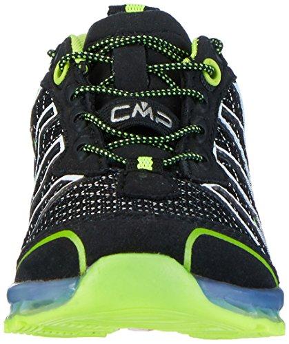 C.P.M. Atlas, Zapatillas de Running para Asfalto Unisex Niños Negro (Nero-yellow Fluo)