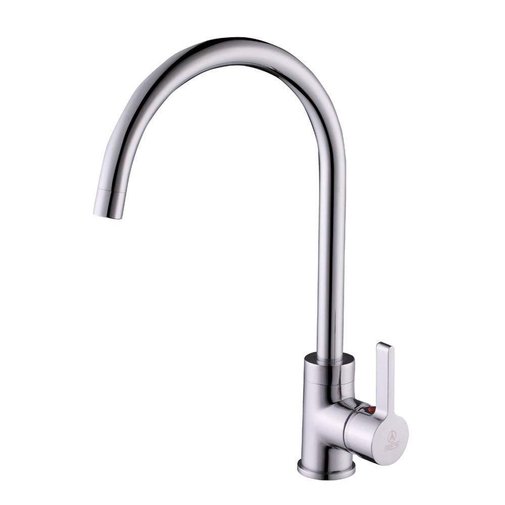 Eeayyygch Wasserhahn Voll Kupfer Küchenarmatur heiß und kalt gemäße Waschbecken Waschbecken Wasserhahn 360-Grad-Drehung [Atmosphäre] Luxus-Modelle (Farbe   -, Größe   -)