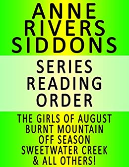 Anne rivers siddons books in order