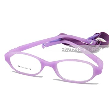 9dd3041f9a1a Image Unavailable. Image not available for. Color: EnzoDate Baby Optical  Glasses Frame Size 40 with Strap, Bendable Boys Girls Infants Eyeglasses