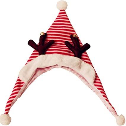 Cappello Natalizio per Bambini Cappello Natalizio a Strisce Treccia di  Natale Cappello Festa di Ballo Decorazione 0dd4a1fea8f1