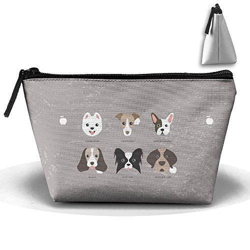 Print Dog Clipart (Cartoon Clipart Dog 3D Print Women's Cute Trapezoid Receive Bag)