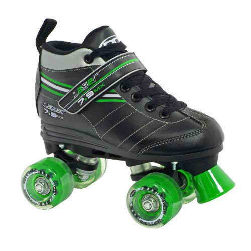 - Roller Derby Boy's Laser Speed Quad Skate, Size 03