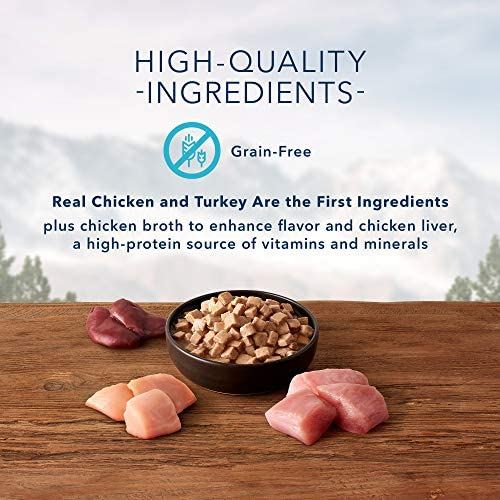 Blue Buffalo Wilderness Wild Delights High Protein Grain Free, Natural Adult Meaty Morsels Wet Cat Food 4