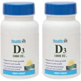 HealthVit Vitamin D3 1000IU - 30 Tablets (Pack of 2)