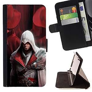 Momo Phone Case / Flip Funda de Cuero Case Cover - Assassin Pirata;;;;;;;; - HTC One M9