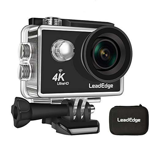 LeadEdge LE5000 Action Camera 4K WiFi EIS(Electronic Image Stabilization) Waterproof DV Sports Cam Underwater Camcorder 30M Diving 12MP Ultra HD 4K/30FPS 1080P/60FPS 720P/120FPS 170° 1050mAh Battery