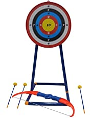 777-707 Kids Toy Archery Bow and Arrow Set with Target and Stand