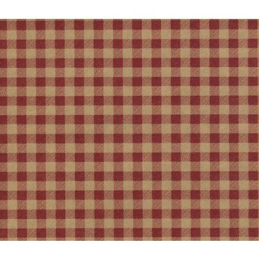 Red Gingham on Kraft Gift Wrapping Paper -30