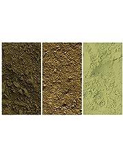 المجموعة الخضراء - عبوة مكونة من 3 صبغات معدنية طبيعية (150 مل|5 أونصة للمنطقة الأوروبية): لون أخضر فاتح | أخضر داكن | أخضر داكن | أخضر داكن | أخضر برينتونيكو
