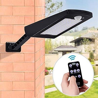 Solar Lights Outdoor, Solar Security Lights with Motion Sensor, LED Street Lights Outdoor Waterproof, 48LEDs 900LM 4 Modes LED Landscape Lighting Emergency Lamp for Wall, Garage, Patio, Garden.