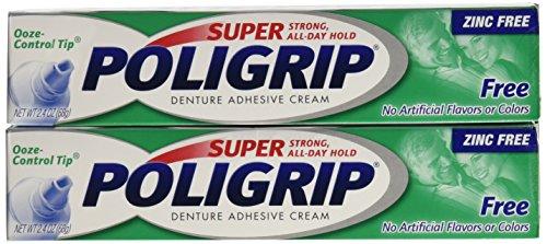 Amazon.com : Super PoliGrip Denture Adhesive Cream 0.75 oz (3 pack ...